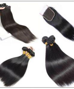 Straight Human Hair Super Thin Skin PU Closure Pieces Natural Black 4x4 Pu Silk Top Closure Free Part Hair Closure img 3-min