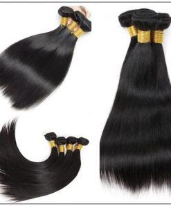 Straight Human Hair Super Thin Skin PU Closure Pieces Natural Black 4x4 Pu Silk Top Closure Free Part Hair Closure img 4-min