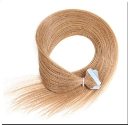 Straight Tape In Hair Extensions #12 Light Brown 100% Virgin Hair IMG 3-min