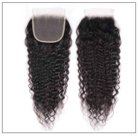 Super Wave Weaving With Closure 4x4 Swiss Lace Closure Free Part Brazilian Hair Closure img 2-min