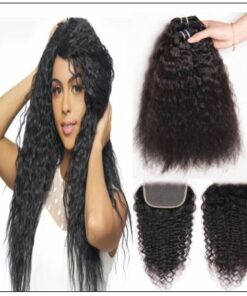 Super Wave Weaving With Closure 4x4 Swiss Lace Closure Free Part Brazilian Hair Closure img-min