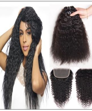 Super Wave Weaving With Closure 4x4 Swiss Lace Closure Free Part Brazilian Hair Closure img-min