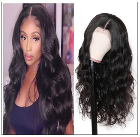 100% High Quality Virgin Human Hair Body Wave 360 Lace Front Wig Pre Plucked Natural Hairline img 4-min