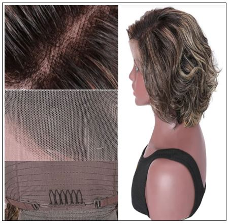 13x4 Lace Front Human Hair Wig Highlight Wavy Bob 8 Inch Free Part Short Bob Lace Front Wigs for Women 2-min