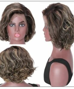13x4 Lace Front Human Hair Wig Highlight Wavy Bob 8 Inch Free Part Short Bob Lace Front Wigs for Women 3-min