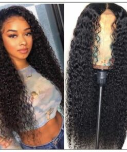 13x4 Lace Front Wigs Human Hair Curly Hair Pre Plucked Frontal Wigs with Baby Hair Glueless Curly Human Hair Wigs 180% Density img
