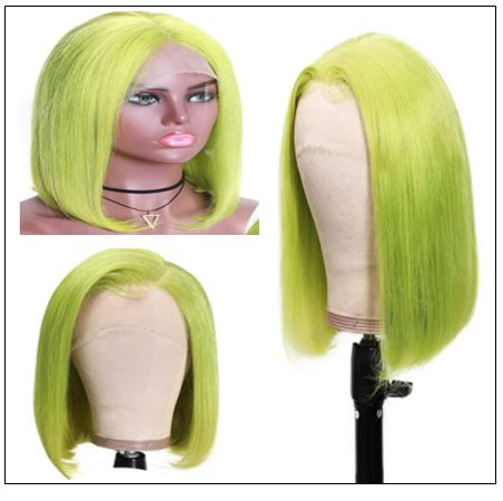13x4 Straight Bob Lace Front Wig 150% Density Pre Plucked Lace Front Human Hair Human Hair Wigs With Baby Hair For Black Women 2..-min