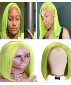13x4 Straight Bob Lace Front Wig 150% Density Pre Plucked Lace Front Human Hair Human Hair Wigs With Baby Hair For Black Women 3-min