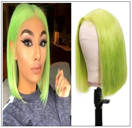 13x4 Straight Bob Lace Front Wig 150% Density Pre Plucked Lace Front Human Hair Human Hair Wigs With Baby Hair For Black Women img-min