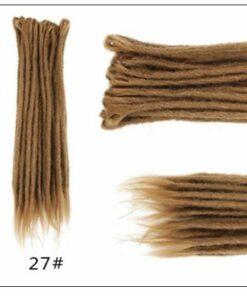 #27 Dark Blonde Hair Synthetic Dreads Crochet Braids 2