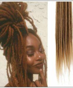 #27 Dark Blonde Hair Synthetic Dreads Crochet Braids 4
