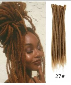 #27 Dark Blonde Hair Synthetic Dreads Crochet Braids img