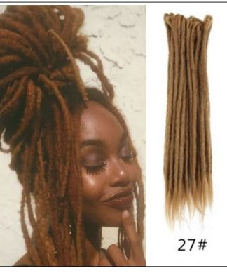 #27 Dark Blonde Hair Synthetic Dreads Crochet Braids img