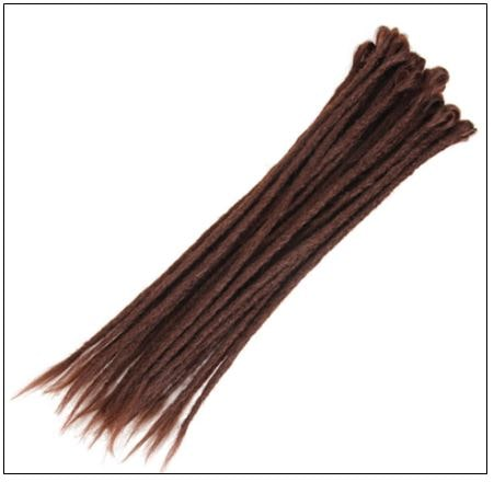 33# Chocolate Color Handmade Synthetic Dreads 2-min