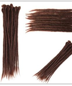 33# Chocolate Color Handmade Synthetic Dreads 3-min