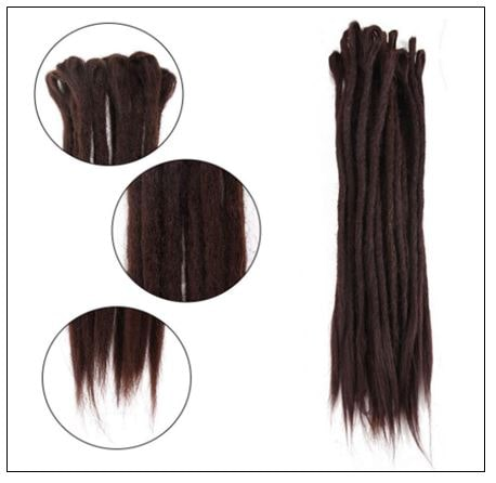 #4 Handmade Synthetic Dreadlocks Extensions Crochet Braids Hair 3-min