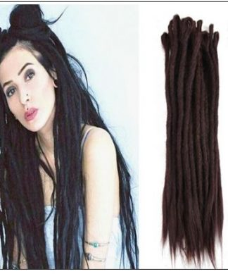 #4 Handmade Synthetic Dreadlocks Extensions Crochet Braids Hair img-min