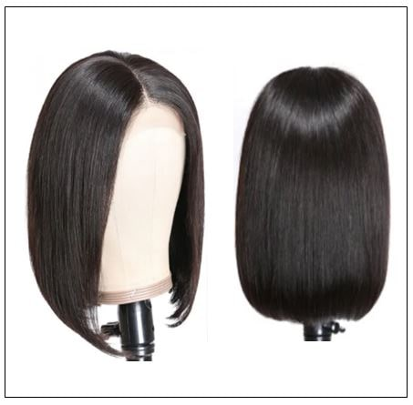 4x4 Lace Closure Wig Natural Black Human Hair Bob Wigs For Sale Affordable Short Human Hair Wigs img 4-min