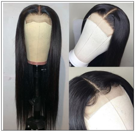 5x5 HD Lace Closure Wigs Virgin Straight Wig Pre Plucked Natural Black Human Hair Wigs for Women img 4-min