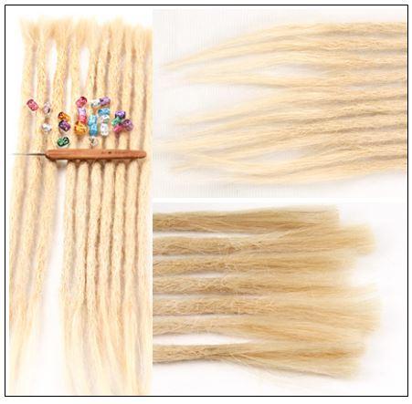 613 Blonde Dreadlock Extensions Human Hair Dreads 2-min