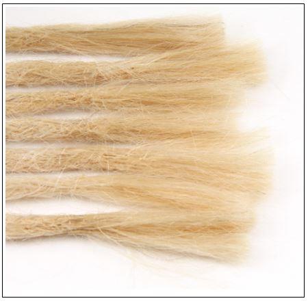 613 Blonde Dreadlock Extensions Human Hair Dreads 3-min