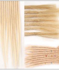 613 Blonde Dreads Long Dreadlock Human Hair Crochet Extensions 2-min