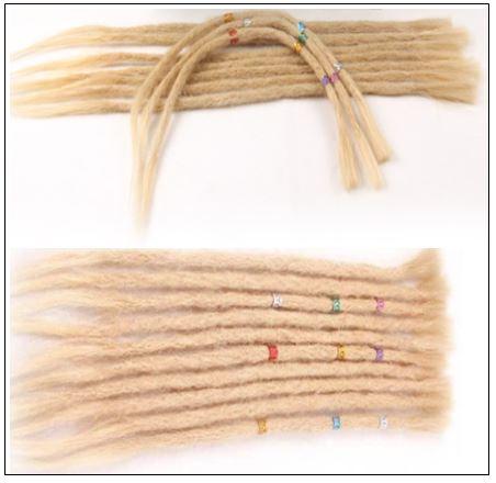 613 Blonde Dreads Long Dreadlock Human Hair Crochet Extensions 3-min