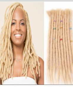 613 Blonde Dreads Long Dreadlock Human Hair Crochet Extensions img-min