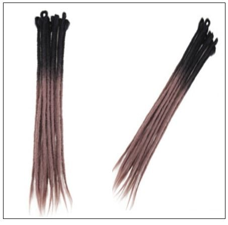 Black and Ash Brown 2-33 Color Crochet Braids With Synthetic Hair Dreadlocks 4-min