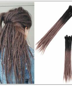 Black and Ash Brown 2-33 Color Crochet Braids With Synthetic Hair Dreadlocks img-min
