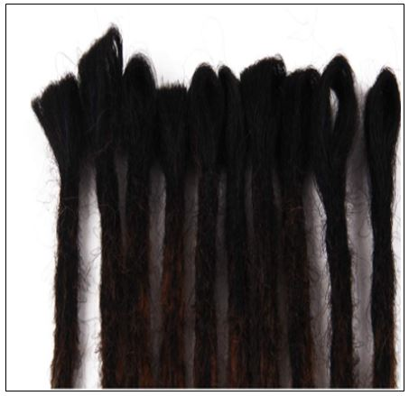 Black and Brown 2-6 Dreadlocks Extensions Synthetic Hair Faux Locs 100% Handmade2-min