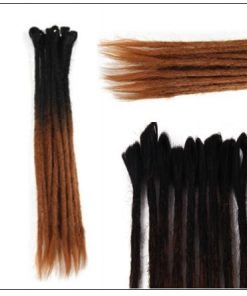 Black and Brown 2-6 Dreadlocks Extensions Synthetic Hair Faux Locs 100% Handmade3-min