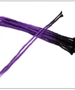 Black and Purple 2-12 Crochet Hair Dreadlock Extensions Synthetic Hair 100% Handmade 4