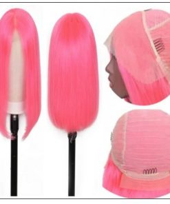 Bob Wigs 8-14 Inch Pink Lace Front Wigs 2.-min