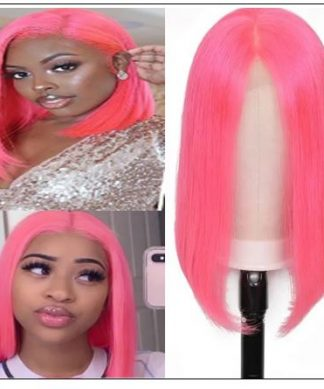 Bob Wigs 8-14 Inch Pink Lace Front Wigs img-min