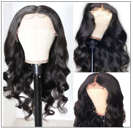 Body Wave Lace Front Wig 150 Density Lace Front Human Hair Wigs T Part Wigs Natural Black Color 2-min