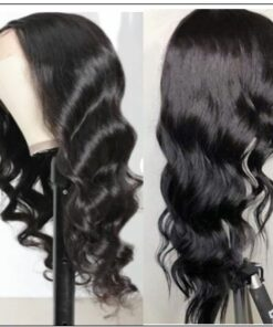 Body Wave Lace Front Wig 150 Density Lace Front Human Hair Wigs T Part Wigs Natural Black Color 3-min