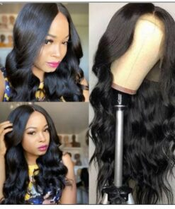 Body Wave Lace Front Wig 150 Density Lace Front Human Hair Wigs T Part Wigs Natural Black Color img-min