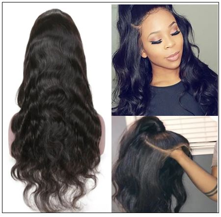 Body Wave Wig Lace Part Wig 150% Density Middle Part With Baby Hair Realistic Human Hair Wigs 3-min