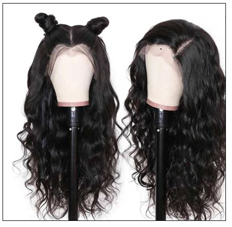 Body Wave Wig Lace Part Wig 150% Density Middle Part With Baby Hair Realistic Human Hair Wigs 4-min