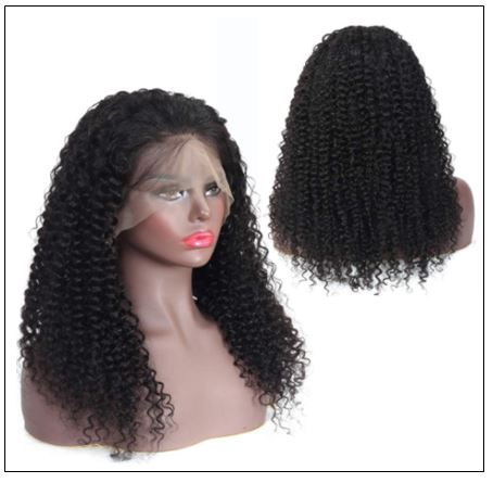 Brazilian Natural Pre-plucked Long Curly Lace Front Wig 100% Human Hair 3-min