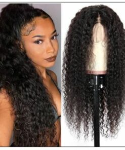 Brazilian Natural Pre-plucked Long Curly Lace Front Wig 100% Human Hair img-min