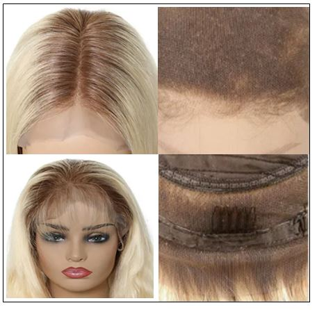 Dark Roots Blonde Pre Plucked 360 Lace Wig img 2-min