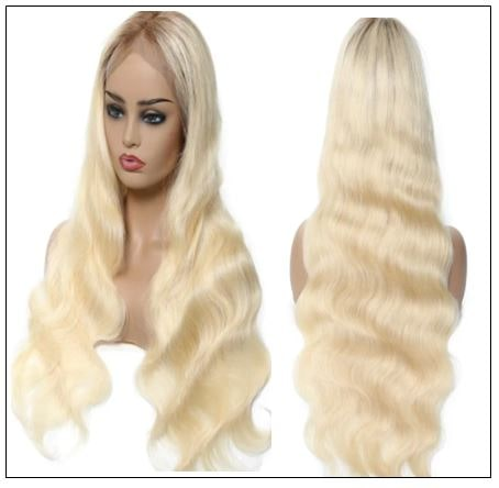 Dark Roots Blonde Pre Plucked 360 Lace Wig img 4-min