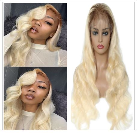 Dark Roots Blonde Pre Plucked 360 Lace Wig img-min