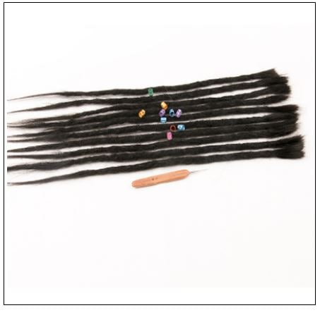 Dreadlock Extensions Human Hair 1# Hair Color Hairstyles 3-min