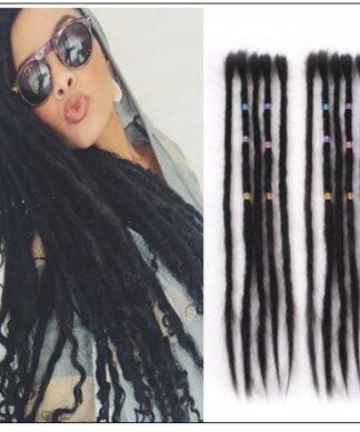 Dreadlock Extensions Human Hair 1# Hair Color Hairstyles img-min