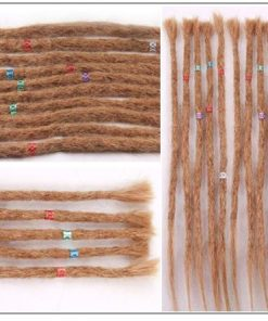 Dreadlock Extensions Human Hair 27 Light Brown Dyed Dreads 2