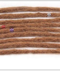 Dreadlock Extensions Human Hair 27 Light Brown Dyed Dreads 3