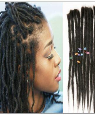 Dreadlock Human Hair Extensions Natural Black img-min